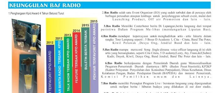 Keunggulan Basradio